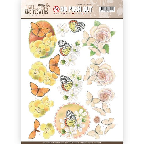 3D Push Out - Jeanine`s Art - Classic Butterflies and Flowers - Lovely Butterflies.
