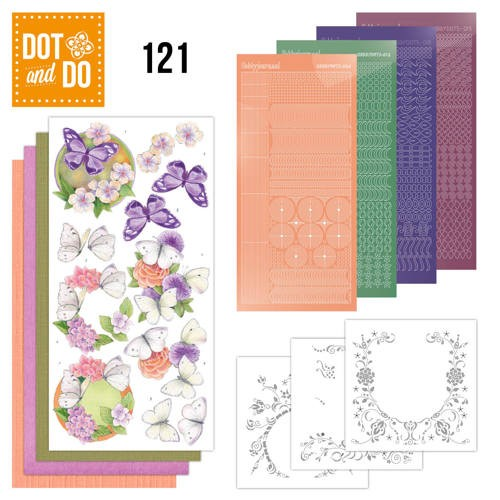 Dot and Do 121 - Jeanine`s Art - Vlinders en Bloemen.