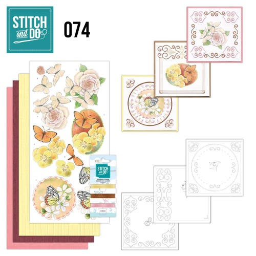 Stitch and Do 74 Vlinders en Bloemen.