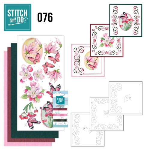 Stitch and Do 76 - Pink Flowers.