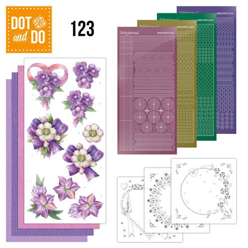 Dot and Do 123 - Purple Flowers.