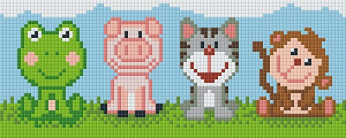 Pixelhobby 2 platen cute animals.