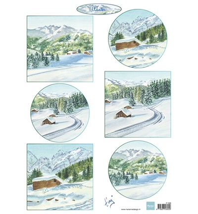 Marianne Design Tiny`s winter landschapjes 1
