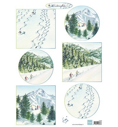 Marianne Design Tiny`s winter landschapjes 2