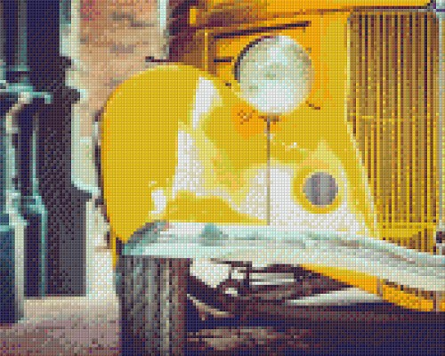Pixelhobby 9 platen yellow car.