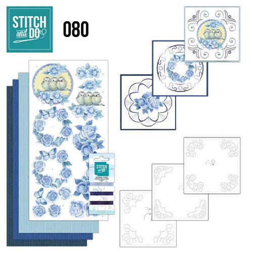 Stitch and Do 80 - Vintage Bloemen.