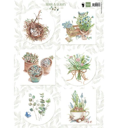 Marianne Design knipvel Herbs & leaves 1.