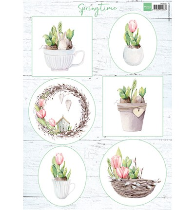 Marianne Design knipvel Tulips & willow cats.