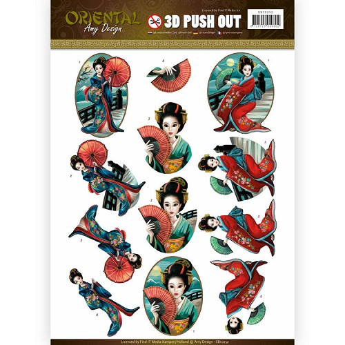 Push Out - Amy Design - Oriental - Geishas.