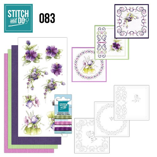 Stitch and Do 83 - Purple Flowers.