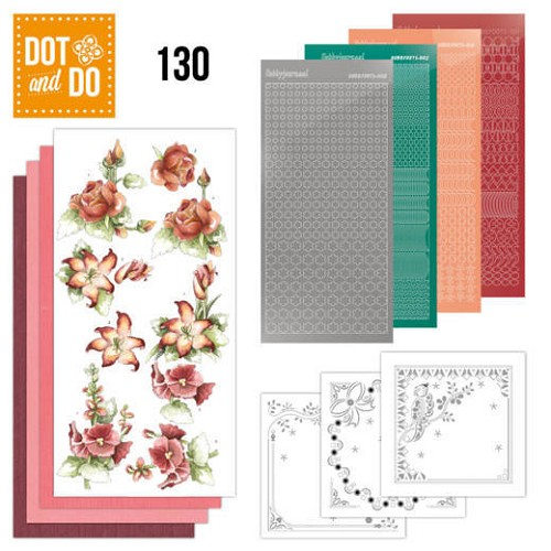 Dot and Do 130 - Precious Marieke - Timeless Red Flowers.