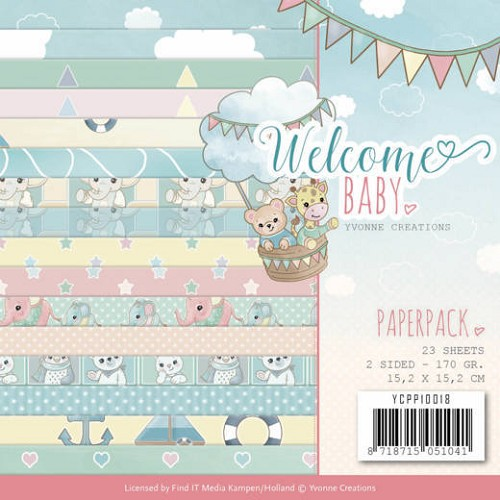 Paperpack - Yvonne Creations - Welcome Baby.