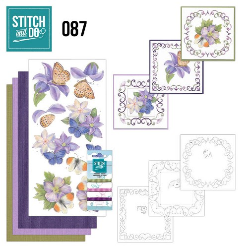 Stitch and Do 87 - Purple Flowers.
