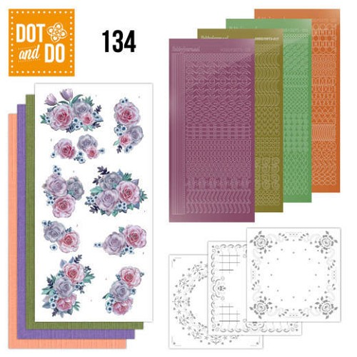 Dot and Do 134 - Purple Flowers.