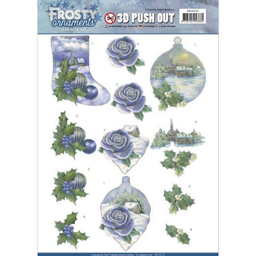 3D Push Out - Jeanine`s Art - Frosty Ornaments - Snowy Landscapes.