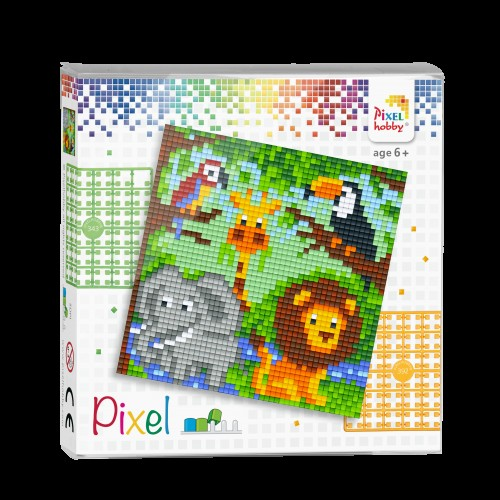 Pixelhobby set jungle. 4 kleine platen.