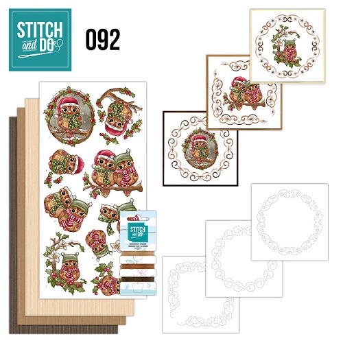 Stitch and Do 92 - Christmas Owls.