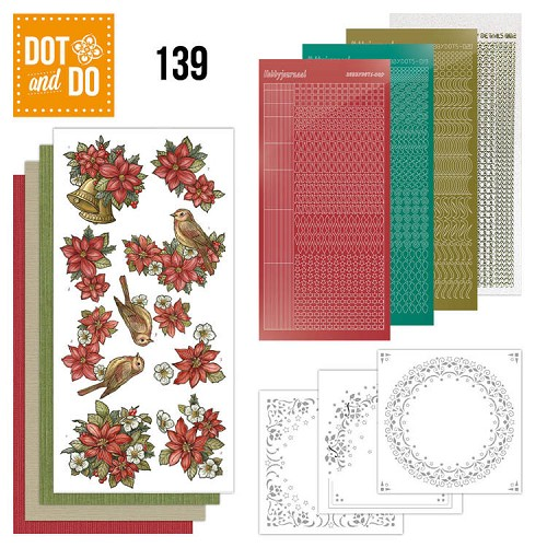 Dot en Do 139 Poinsettia Christmas.