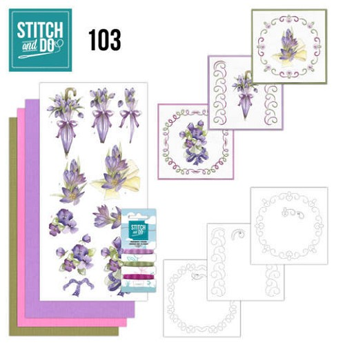 Stitch and Do 103 Flowers in Purple.