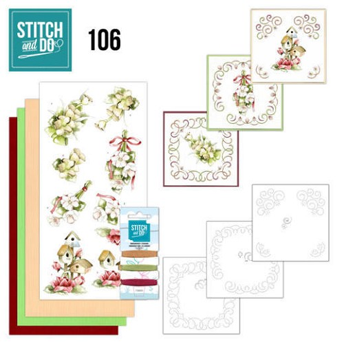 Stitch and Do 106 Pink Spring Flowers.