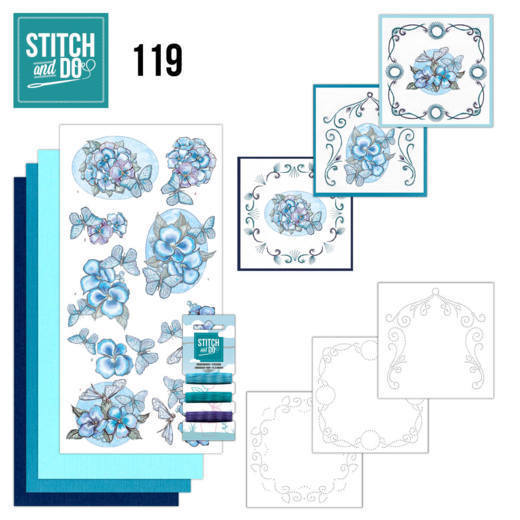 Stitch and Do 119 - Blue Butterflies.