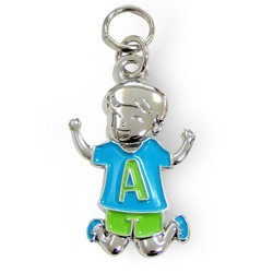 Charms for you letter A jongen.