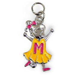 Charms for you letter M meisje.
