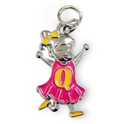 Charms for you letter Q meisje.