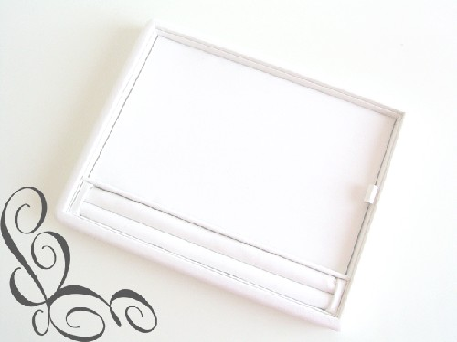 ***Display plat ringen tray wit.