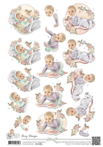 3D Knipvel - Amy Design - Baby Collection - Vintage baby
